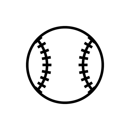 Vector image of an isolated baseball icon. Design a flatball ball baseball icon Illustration