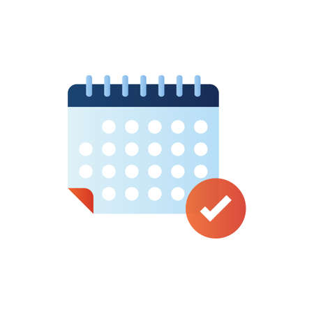 Planning icon in vector. Logotype