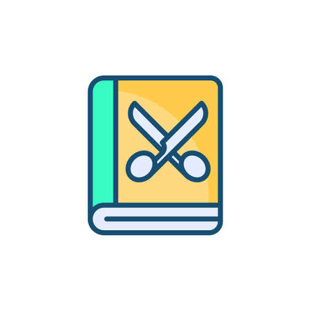 Scrapbook For Tailor icon in vector. Logotype Logo