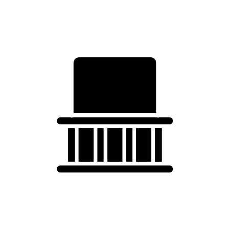 Balcony icon in vector. Logotype