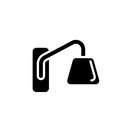 Wall Sconce icon in vector. Logotype