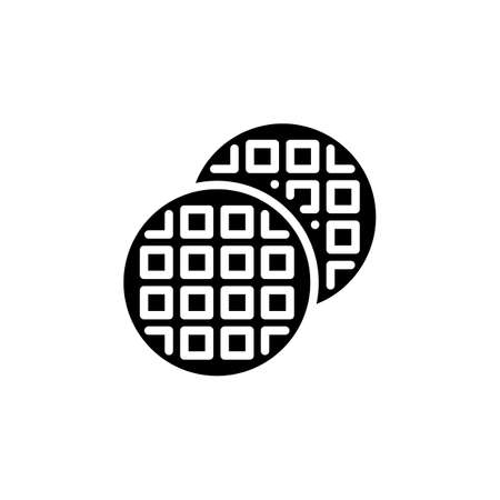 Waffle icon in vector. Logotype