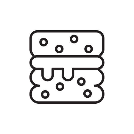 Scone icon in vector. Logotype