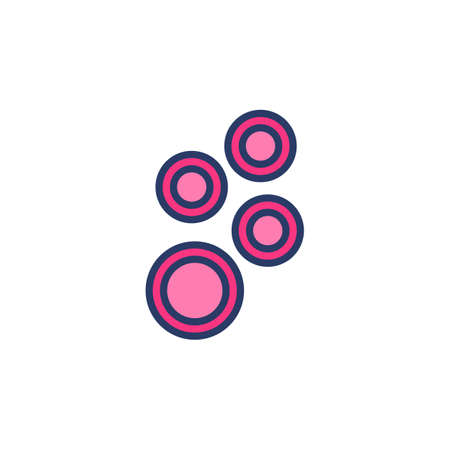 Blood Cells icon in vector. Logotype Logo