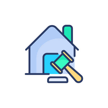 Real Estate Law icon in vector. Logotype Logo