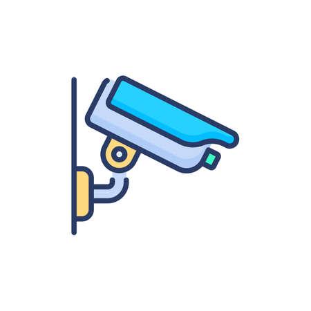 CCTV Camera icon in vector. Logotype Logo
