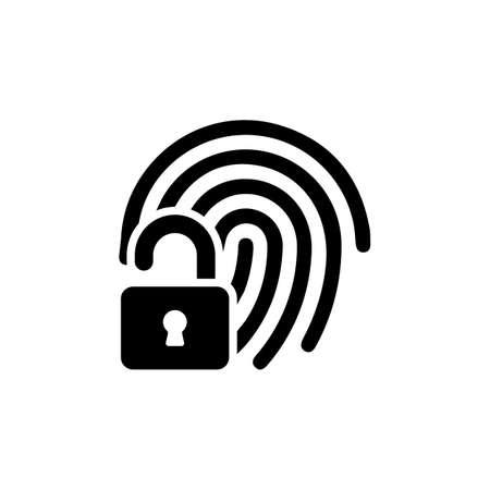 Fingerprint Unlock icon in vector. Logotype