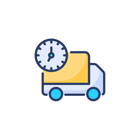 24/7 Delivery icon in vector. Logotype