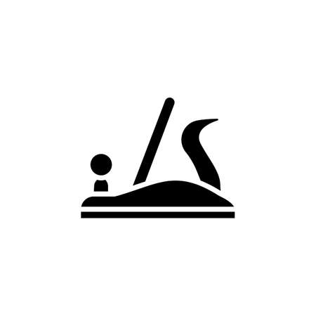 Plane icon in vector. Logotype