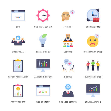 Smart Business Flat Icons - Vectors Vecteurs