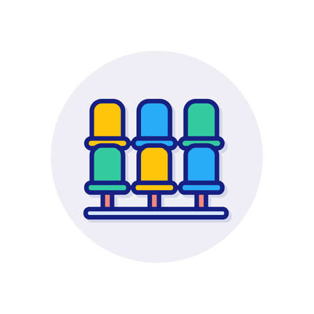 Grandstand icon in vector.