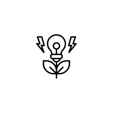 Green Energy icon in vector. Logotype Logos