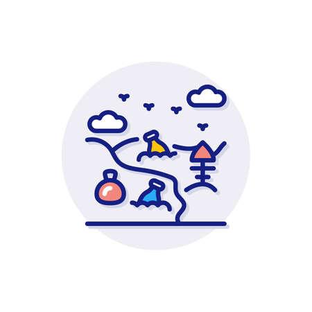 Rubbish icon in vector. Logotype Logos