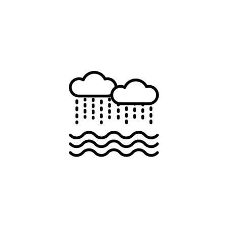 Flood icon in vector. Ilustración de vector