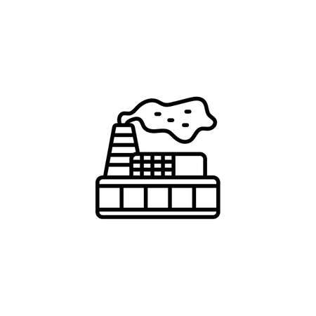 Environmental Pollution icon in vector. Logotype
