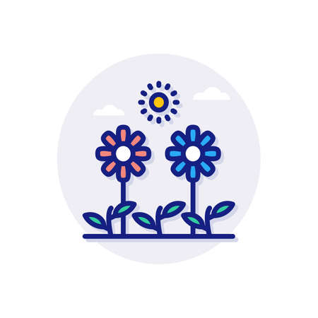 Plants icon in vector. Logotype