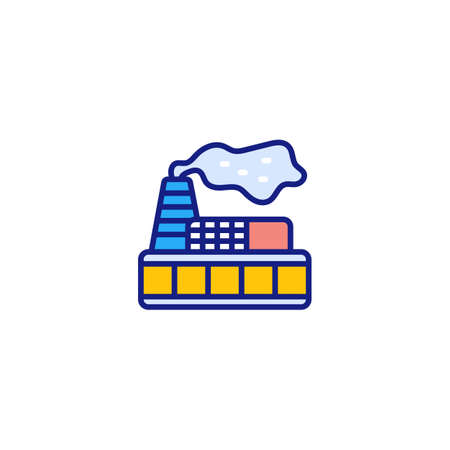 Environmental Pollution icon in vector. Logotype Logos