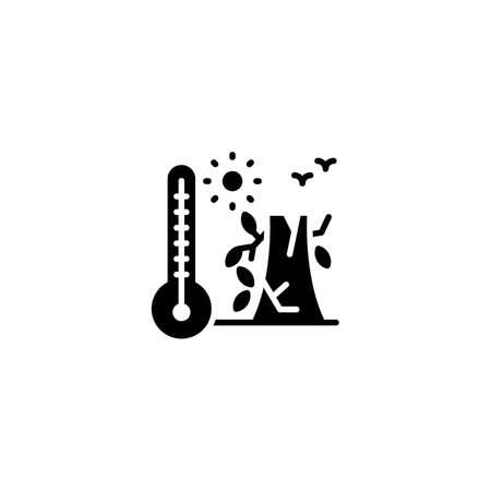 Drought icon in vector. Logotype Logos