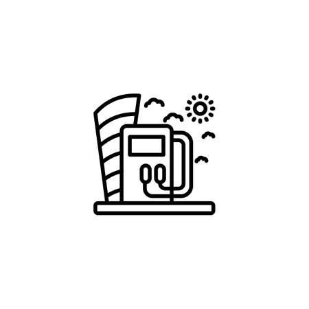 Eco Gas icon in vector. Logotype