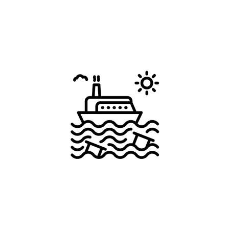 Oil In The Sea icon in vector. Logotype