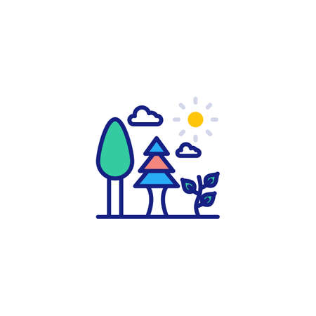 Environment icon in vector. Logotype