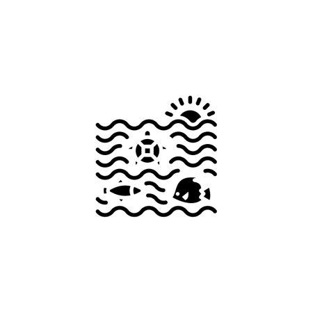 Sea Life icon in vector. Logotype Logos