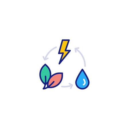 Green Energy icon in vector. Logotype