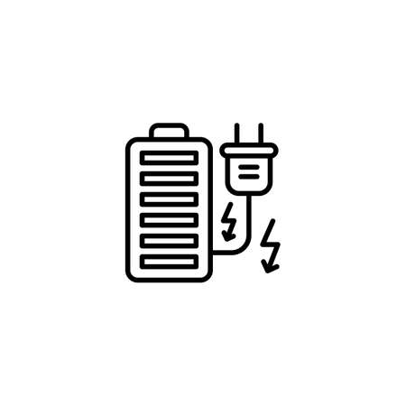 Battery icon in vector. Logotype