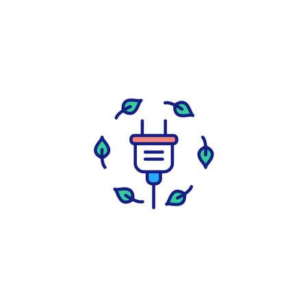 Green Energy icon in vector. Ilustración de vector