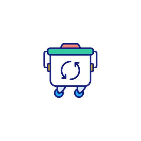 Trash Container icon in vector. Logotype Logos
