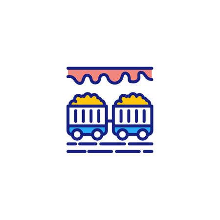 Coal Mine icon in vector. Logotype