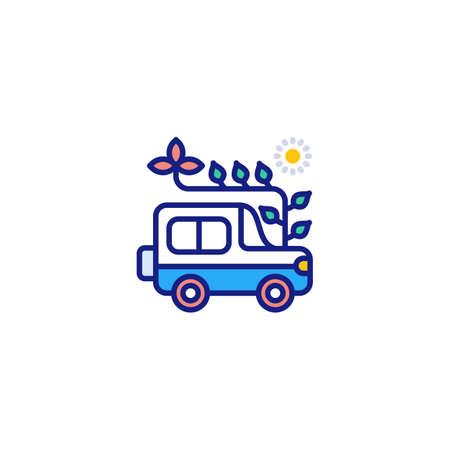 ECO Transport icon in vector. Logotype