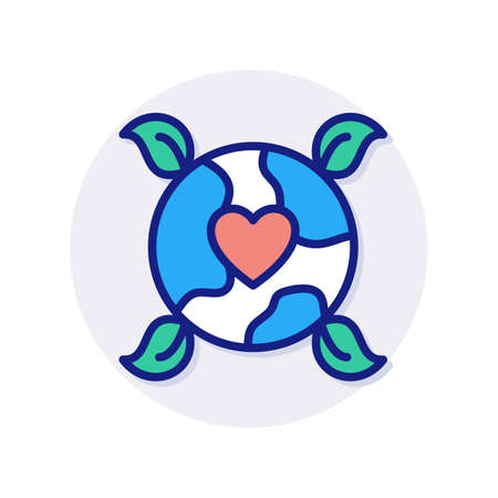 Love Earth icon in vector. Logotype