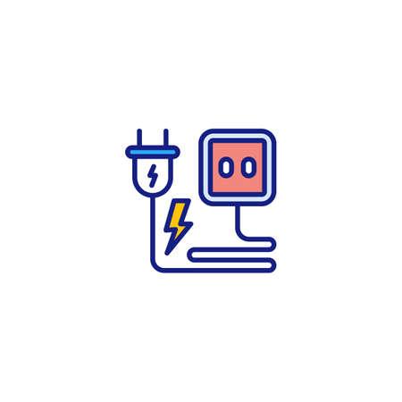 Power Plug icon in vector. Logotype Logos