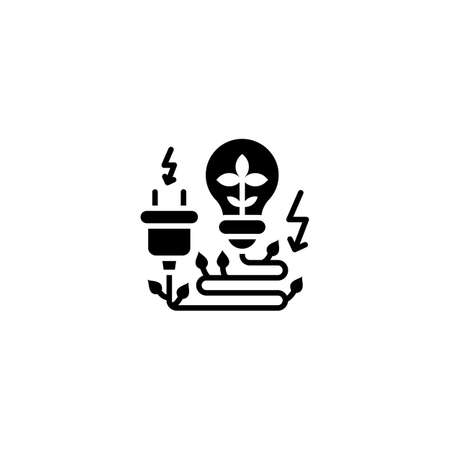 Eco Electricity icon in vector. Logotype