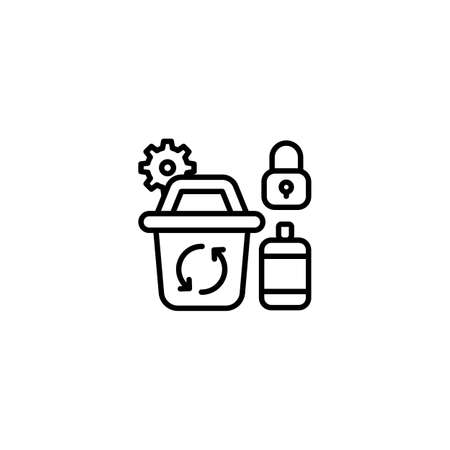 Metal Recycle icon in vector. Logotype Logos