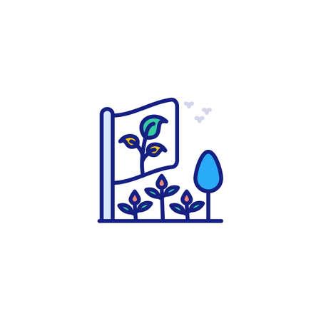 Go Green icon in vector. Logotype