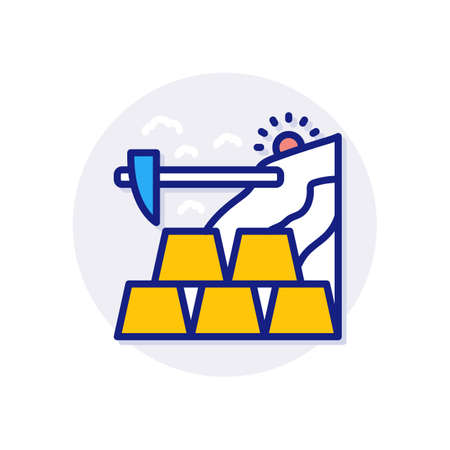 Gold Mine icon in vector. Logotype