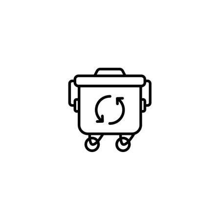 Trash Container icon in vector. Logotype