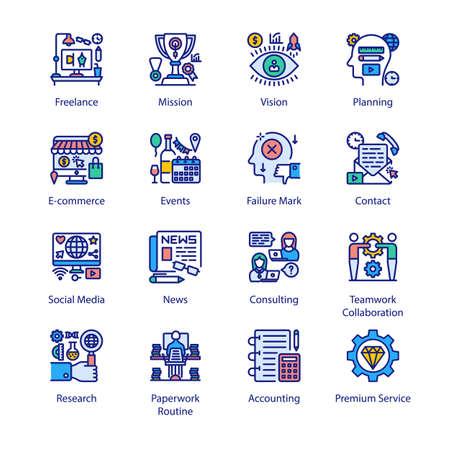 Organization Filled Icons - Stroked, Vectors Vektorgrafik