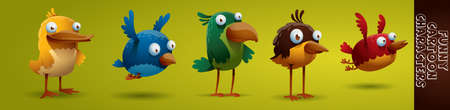 Funny Bird character