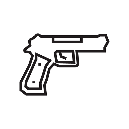 Gun icon vector isolated on white background for your web and mobile app design, Gun logo concept Фото со стока
