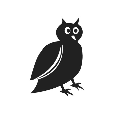 Big Owl icon vector isolated on white background for your web and mobile app design, Big Owl logo concept Stock Photo
