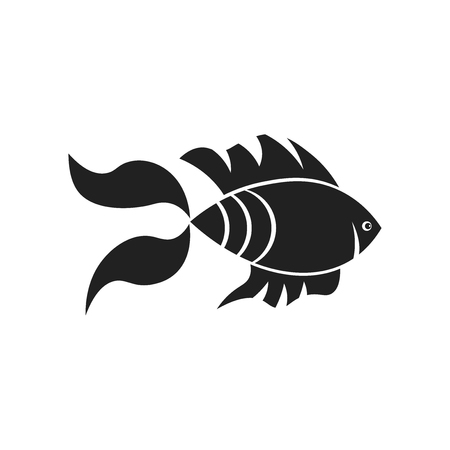 Goldfish icon vector isolated on white background for your web and mobile app design, Goldfish logo concept Illustration