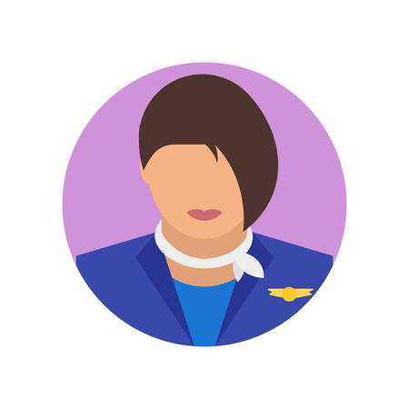 Stewardess icon vector isolated on white background for your web and mobile app design, Stewardess logo concept