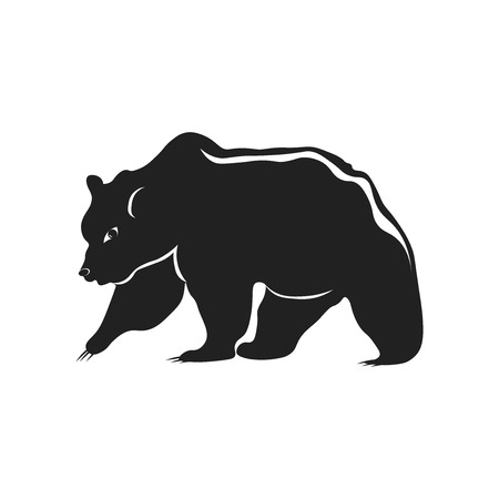 Bear icon vector isolated on white background for your web and mobile app design, Bear logo concept Çizim