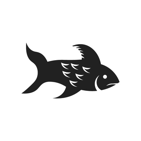 Big Fish icon vector isolated on white background for your web and mobile app design, Big Fish logo concept Vettoriali