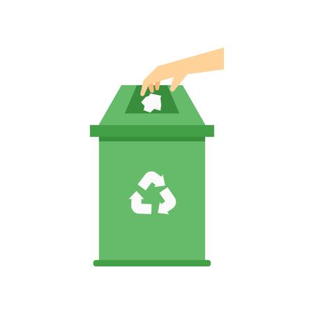 Recycle bin icona vettoriale isolato su sfondo bianco per il vostro web e progettazione mobile app, Recycle bin logo concept Logo