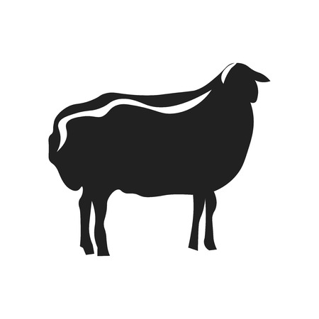 Sheep icon vector isolated on white background for your web and mobile app design, Sheep logo concept 向量圖像