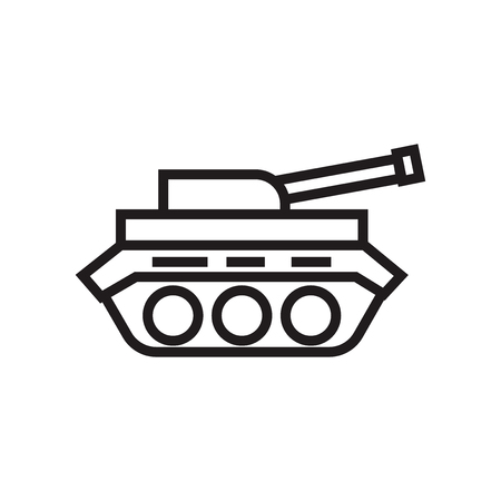 Tank icon vector isolated on white background for your web and mobile app design, Tank logo concept